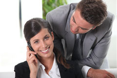 Businessman looking at his wife Royalty Free Stock Photography