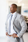 Businessman looking office window Royalty Free Stock Image