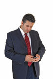 Businessman looking at phone. Royalty Free Stock Photo
