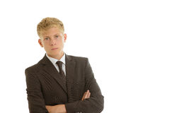Businessman looking seriously Royalty Free Stock Image