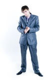 Businessman looking seriously. Isolated on white background Royalty Free Stock Photo