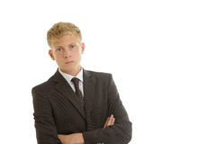 Businessman looking seriously Royalty Free Stock Images