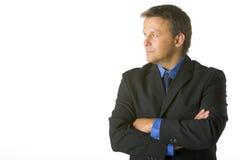 businessman looking sideways Στοκ Φωτογραφία