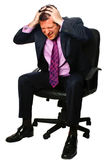 Businessman looking stressed Stock Images