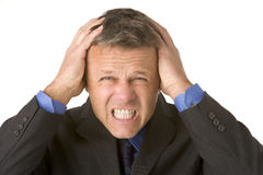 Businessman Looking Stressed Royalty Free Stock Image