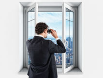 Businessman looking to the future and new business Royalty Free Stock Photo