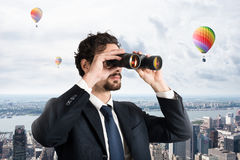 Businessman looking to the future and new opportunities Stock Photography