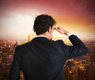 Businessman looking to the future royalty free stock images