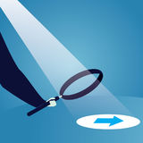 Businessman Looking Trough Magnifying Glass Stock Photography