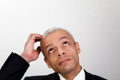 Businessman looking up Royalty Free Stock Images