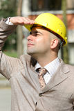 Businessman looking up Royalty Free Stock Photos