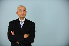 Businessman looking up Royalty Free Stock Image