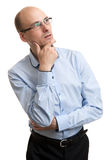 Businessman looking up Stock Image