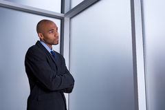 Businessman looking worried Stock Images