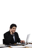Businessman Looking at You, Calling Interested Stock Photo