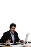 Businessman Looking at You, Suprised Royalty Free Stock Photography