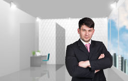 Businessman looks at you Royalty Free Stock Photography