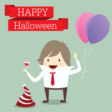 Businessman is lord of vampire happy halloween day party event r Royalty Free Stock Images