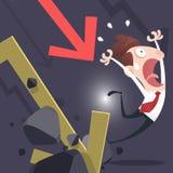 Businessman lose money Stock Images