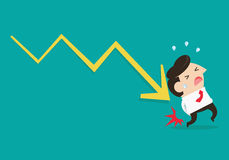 Businessman lose money Stock Photos