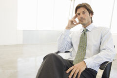Businessman Lost In Thought Stock Images