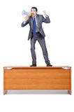Businessman with loudspeaker Stock Photography