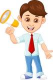 Businessman with a loudspeaker. Illustration of Businessman with a loudspeaker Stock Image