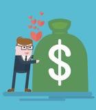 Businessman_loves_money 免版税库存图片