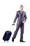 Businessman with luggage Stock Photos