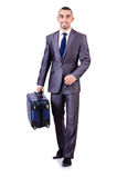 Businessman with luggage Royalty Free Stock Photo