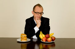 Businessman at lunch Stock Photos