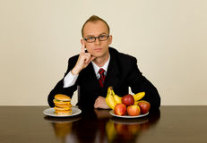 Businessman at lunch Royalty Free Stock Photos