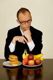 Businessman at lunch Royalty Free Stock Photography