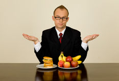 Businessman at lunch Stock Photo