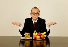 Businessman at lunch Stock Photography