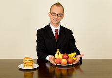 Businessman at lunch Stock Images