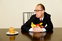 Businessman at lunch Royalty Free Stock Photo