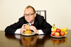 Businessman at lunch Royalty Free Stock Images