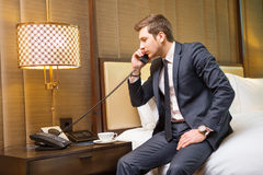 Businessman in the luxury hotel Royalty Free Stock Photos