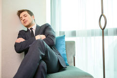 Businessman in the luxury hotel Royalty Free Stock Photography