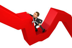 Businessman lying on schedule Stock Images
