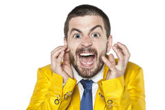 Businessman mad with anger Stock Photos