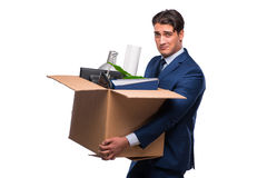 The businessman made redundant fired after dismissal Royalty Free Stock Images