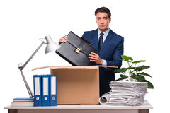 The businessman made redundant fired after dismissal Stock Photo