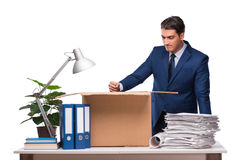 The businessman made redundant fired after dismissal Royalty Free Stock Photos
