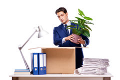 The businessman made redundant fired after dismissal Royalty Free Stock Photo