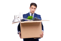 The businessman made redundant fired after dismissal Stock Image