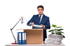 The businessman made redundant fired after dismissal Royalty Free Stock Photography