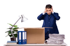 The businessman made redundant fired after dismissal Stock Photography
