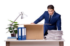 The businessman made redundant fired after dismissal Stock Images